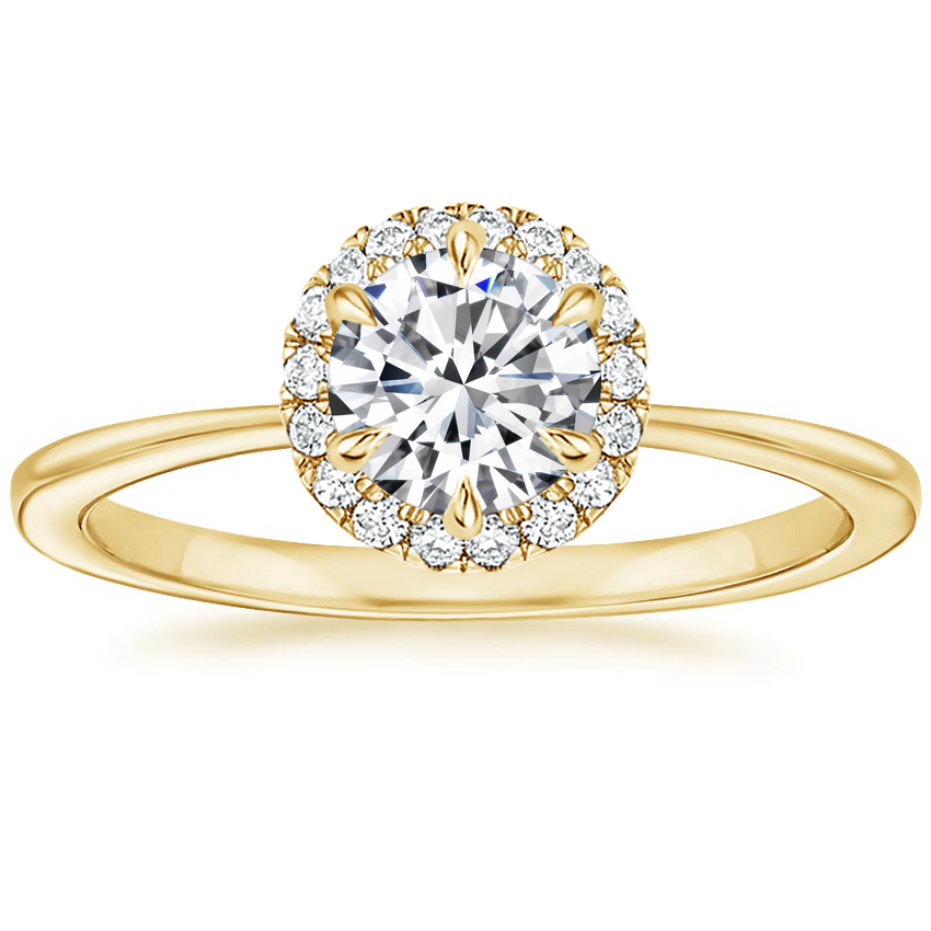 Round 18K Yellow Gold Adelaide Diamond Ring