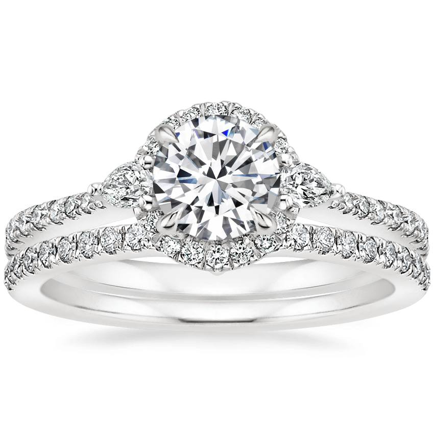 18K White Gold Luxe Aria Halo Diamond Ring (1/4 ct. tw.) with Verita Diamond Ring