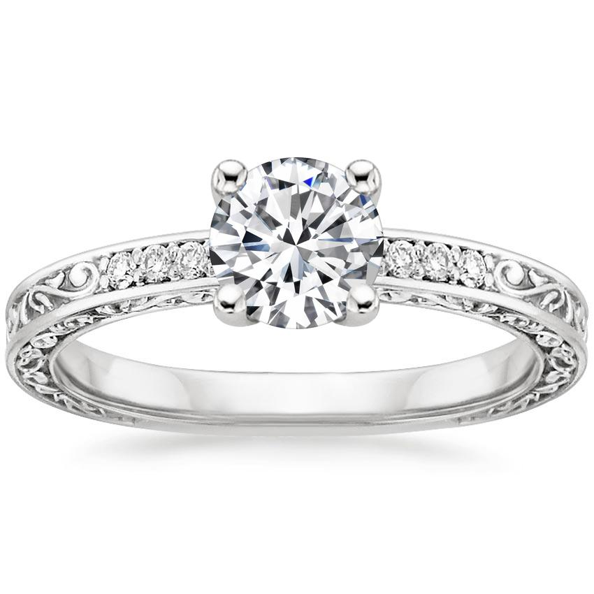 Round Vintage Engagement Ring