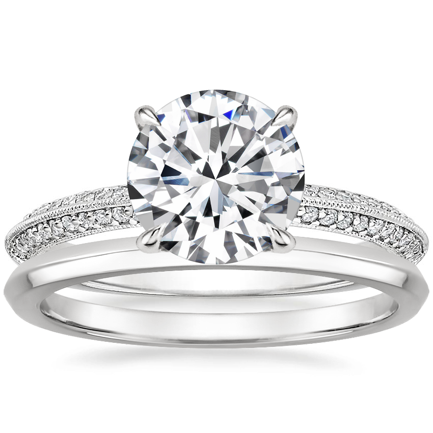 Platinum Callista Diamond Ring with Hazel Ring