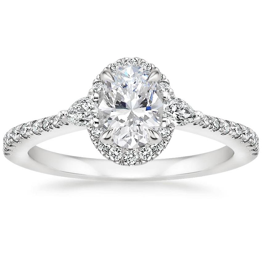 Oval Pear Halo Diamond Ring
