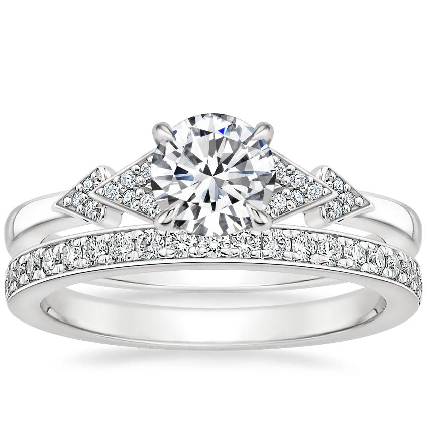 18K White Gold Alta Diamond Ring with Geneva Diamond Ring