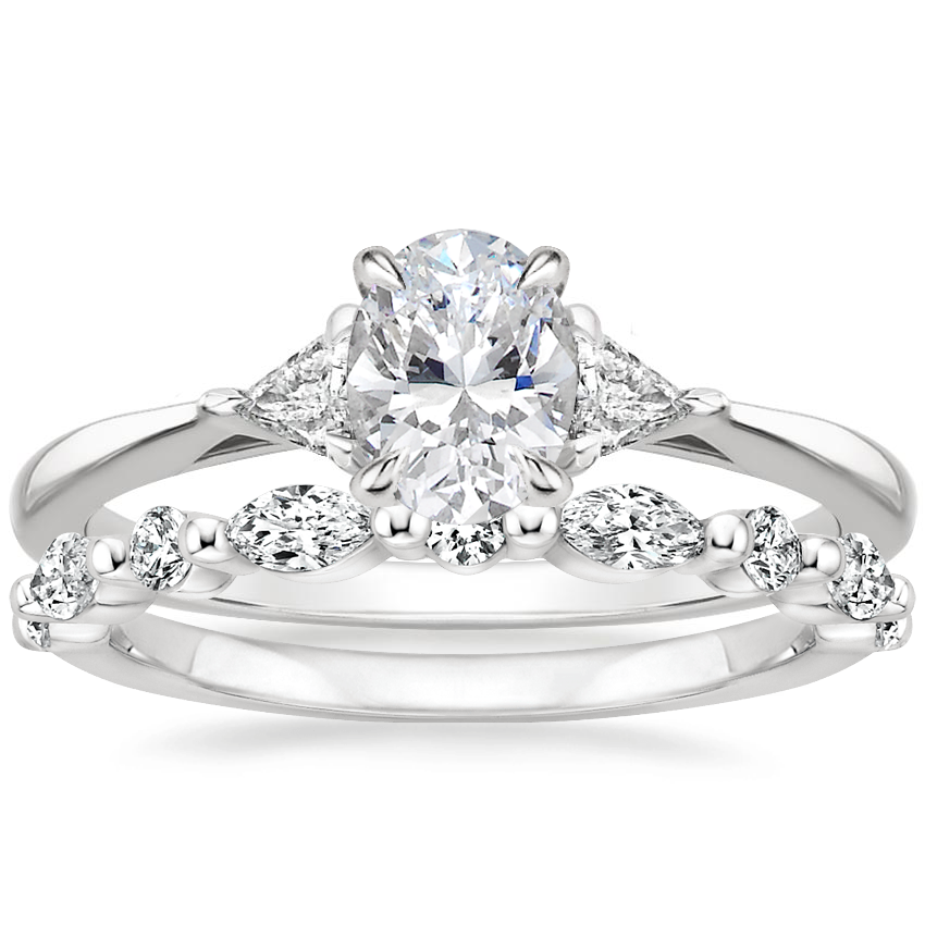 18K White Gold Esprit Diamond Ring with Versailles Diamond Ring (2/5 ct. tw.)