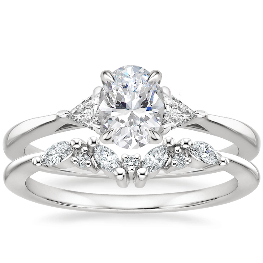 18K White Gold Esprit Diamond Ring with Yvette Diamond Ring