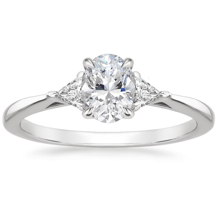 Oval Trillion Diamond Ring