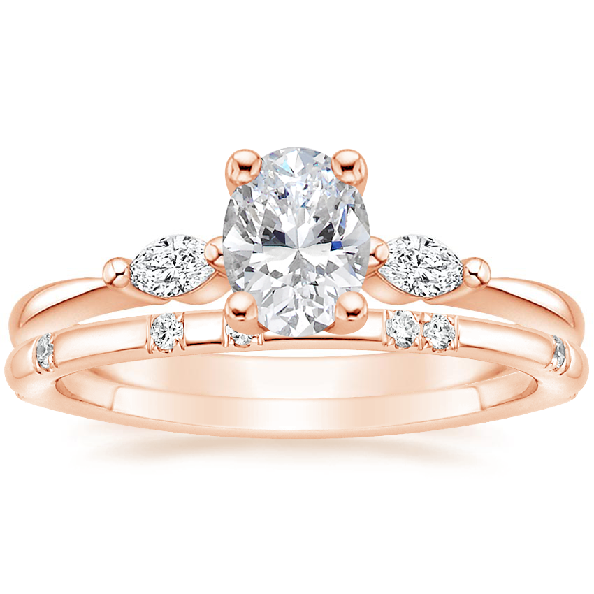 14K Rose Gold Gia Diamond Ring with Astra Diamond Ring