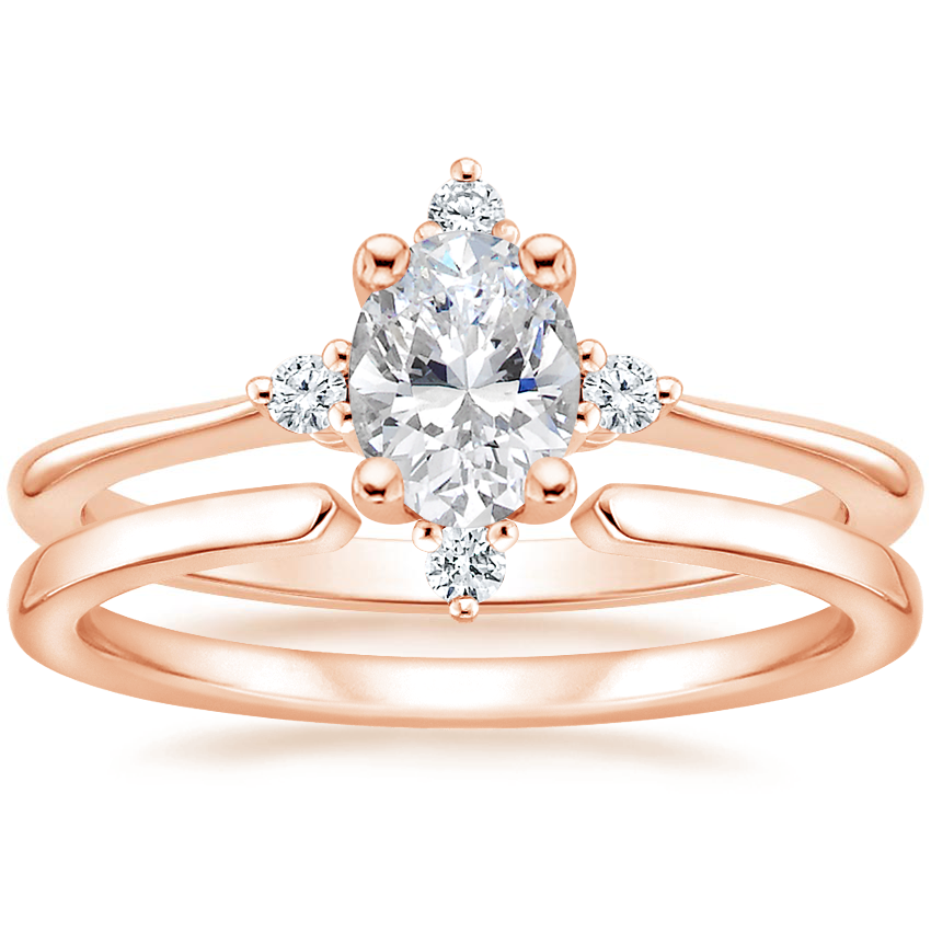 14K Rose Gold Luminesce Diamond Ring with Liv Wedding Ring