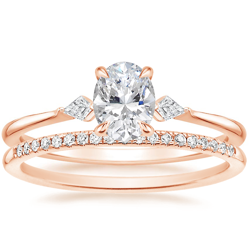 14K Rose Gold Cometa Diamond Ring with Whisper Diamond Ring (1/10 ct. tw.)