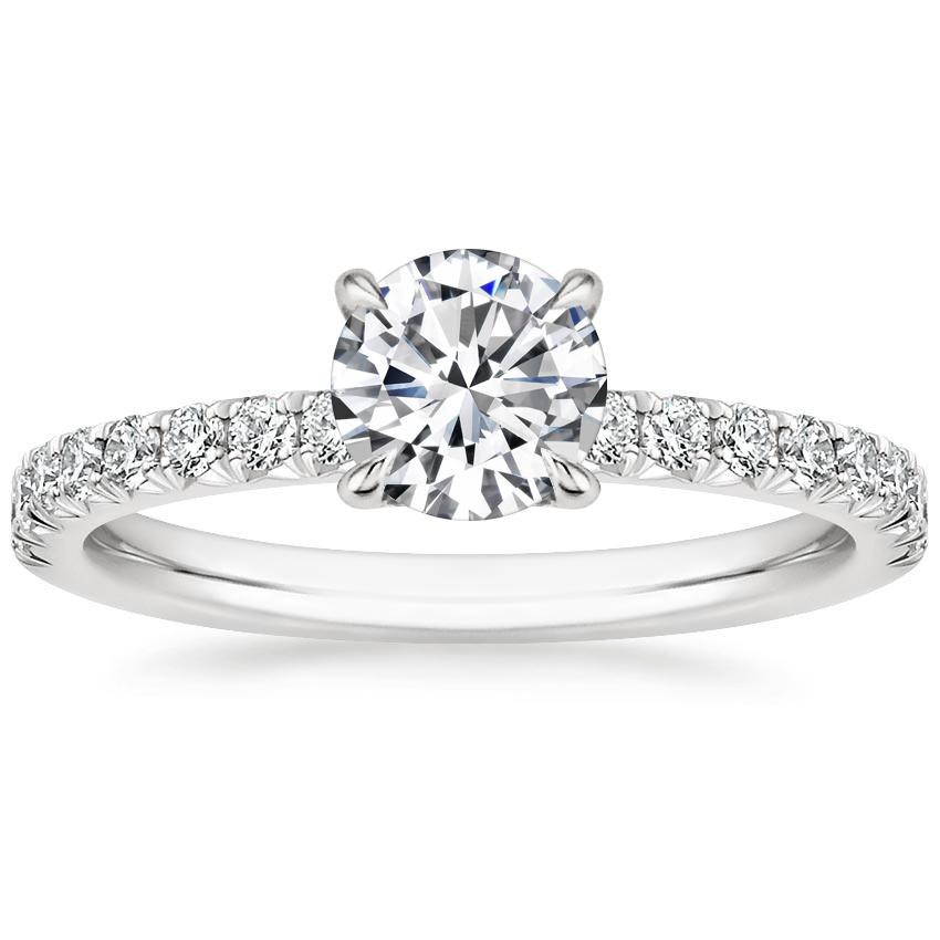 Round Platinum Amelie Diamond Ring (1/3 ct. tw.)