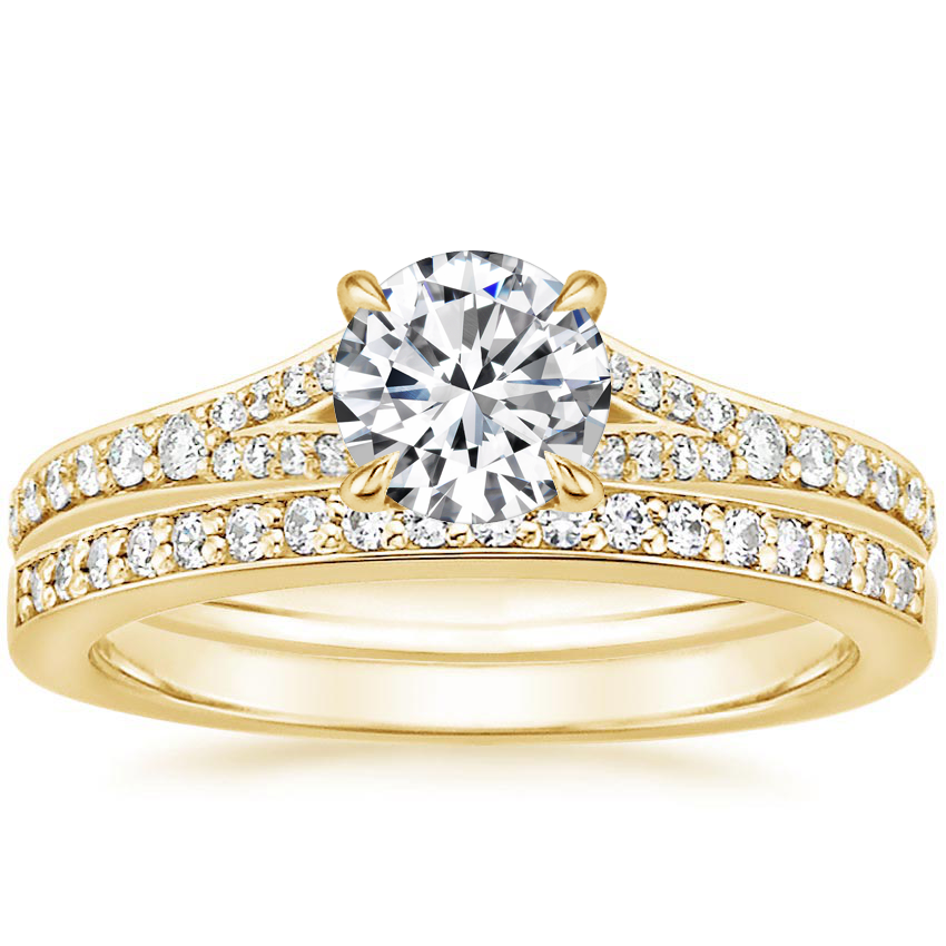 18K Yellow Gold Duet Diamond Bridal Set (1/3 ct. tw.)
