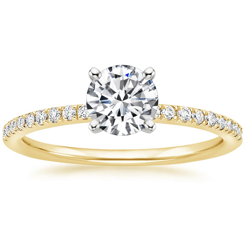 Round 18K Yellow Gold Ballad Diamond Ring (1/8 ct. tw.)