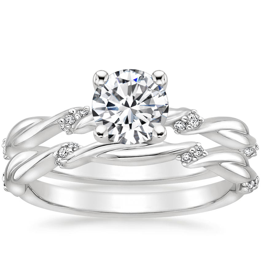 18K White Gold Cleo Diamond Bridal Set