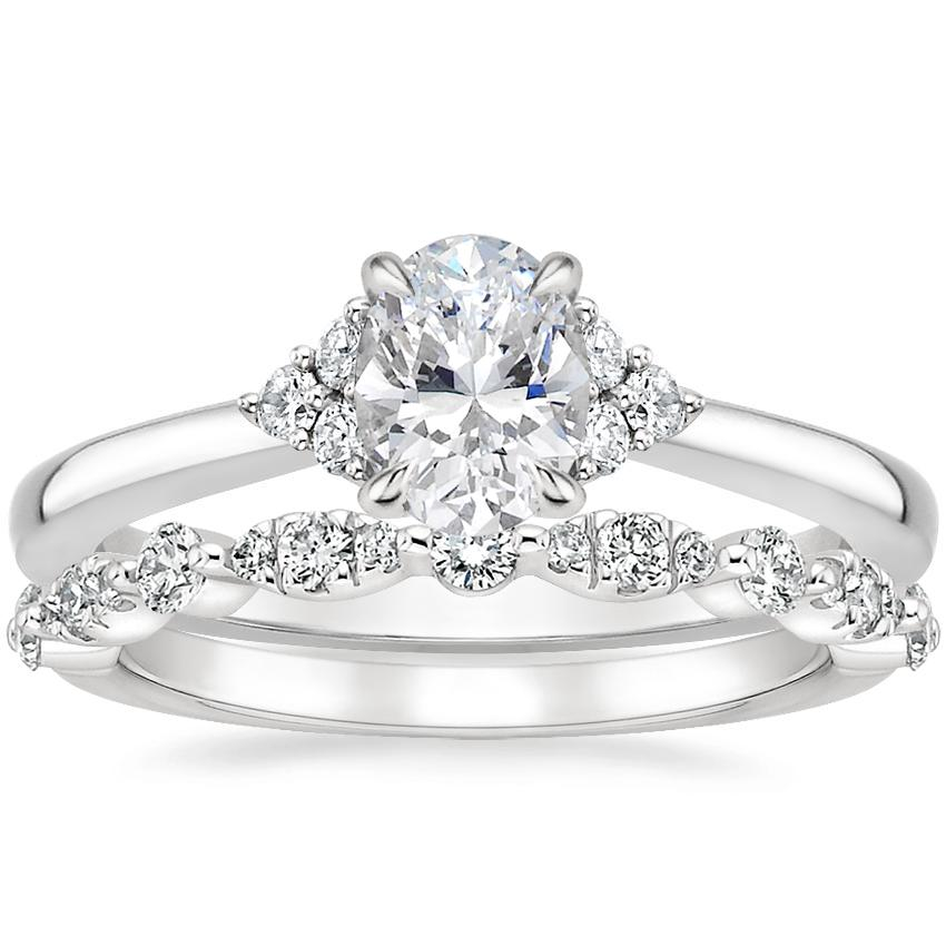 Platinum Melody Diamond Ring with Odette Diamond Ring (1/4 ct. tw.)