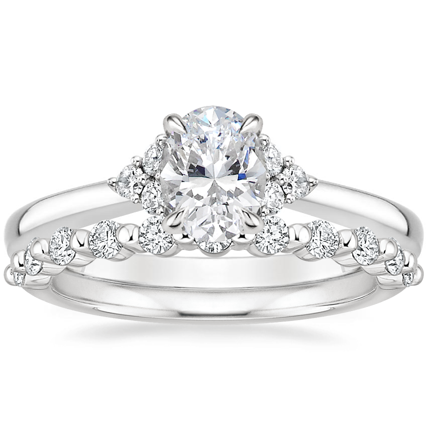 18K White Gold Melody Diamond Ring with Marseille Diamond Ring (1/3 ct. tw.)
