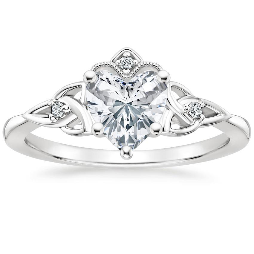 Heart Celtic Crown Engagement Ring