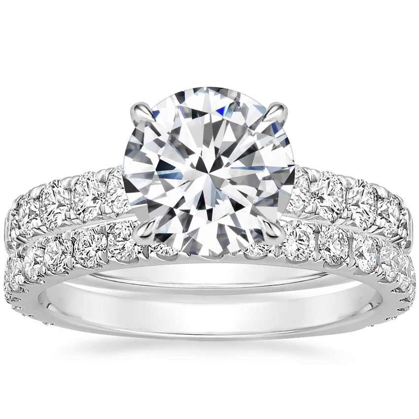 Platinum Luxe Anthology Diamond Ring (1/2 ct. tw.) with Sedona Diamond Ring (1/2 ct. tw.)
