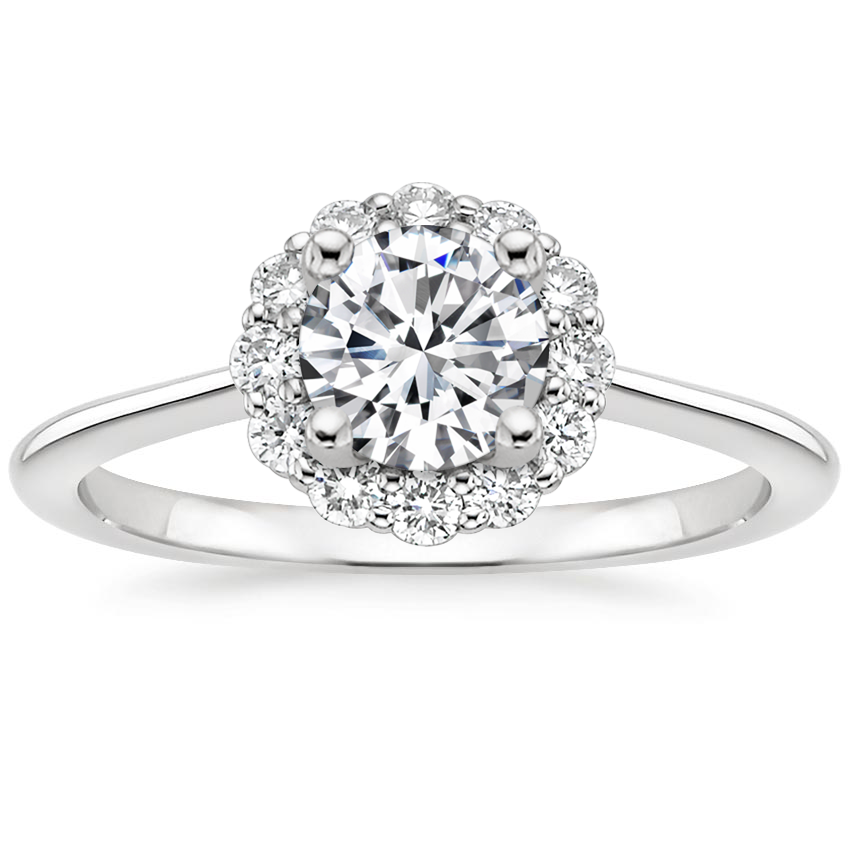 Round Platinum Calla Diamond Ring (1/3 ct. tw.)