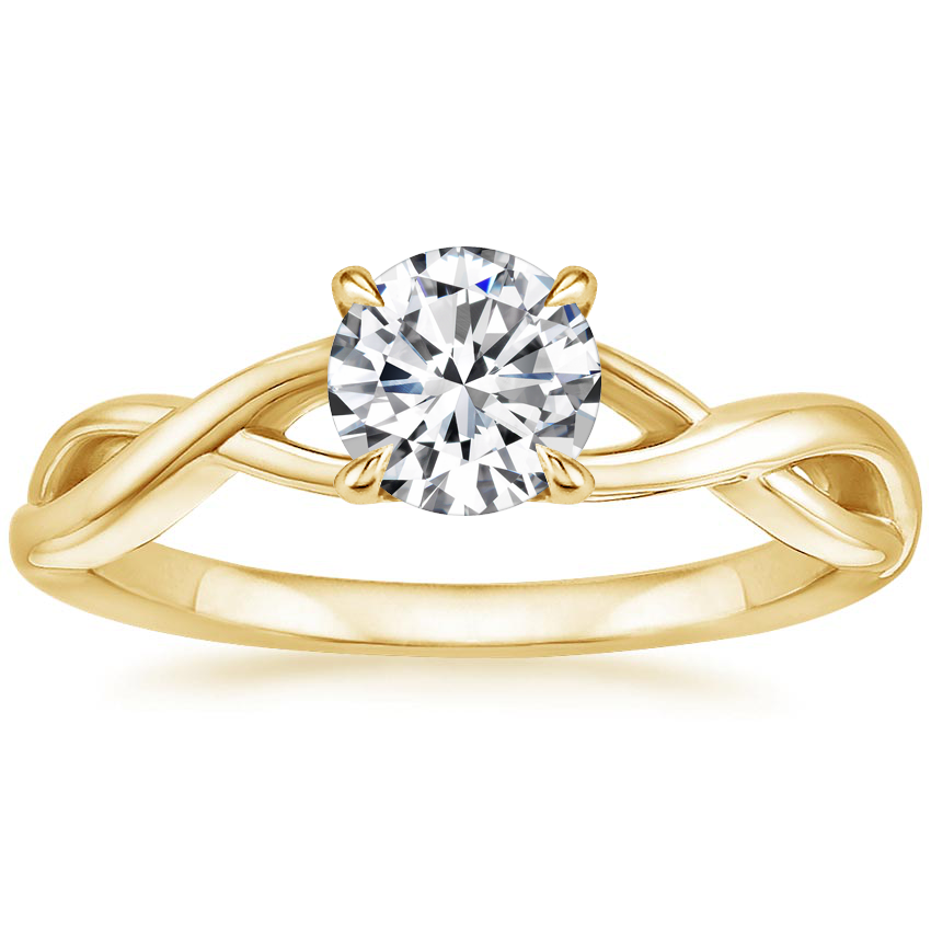Round 18K Yellow Gold Eden Diamond Ring