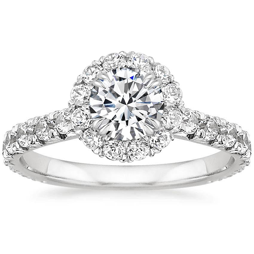 Platinum Stella Diamond Ring, top view