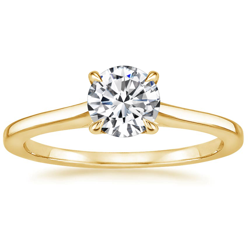 Round Delicate Solitaire Engagement Ring