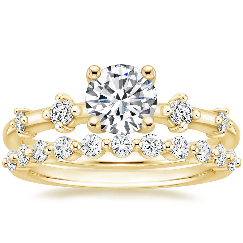 18K Yellow Gold Poetica Diamond Ring with Marseille Diamond Ring (1/3 ct. tw.)