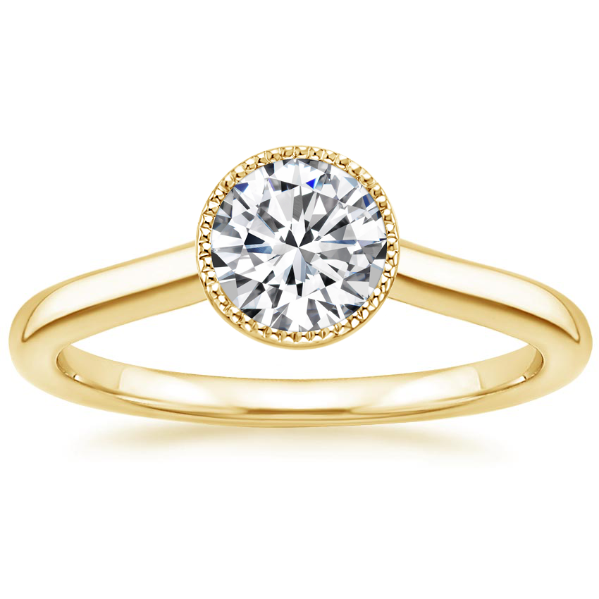 Round 18K Yellow Gold Margot Ring