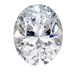 1.02 Carat Oval Diamond large top view