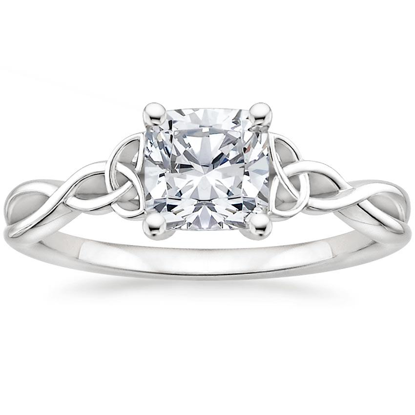 Top Twenty  Engagement Rings - ENTWINED CELTIC LOVE KNOT RING