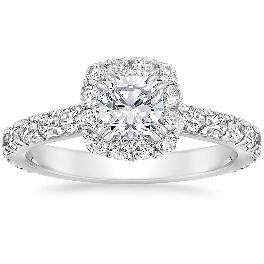 Top Twenty  Engagement Rings - LUXE SIENNA HALO DIAMOND RING (3/4 CT. TW.)