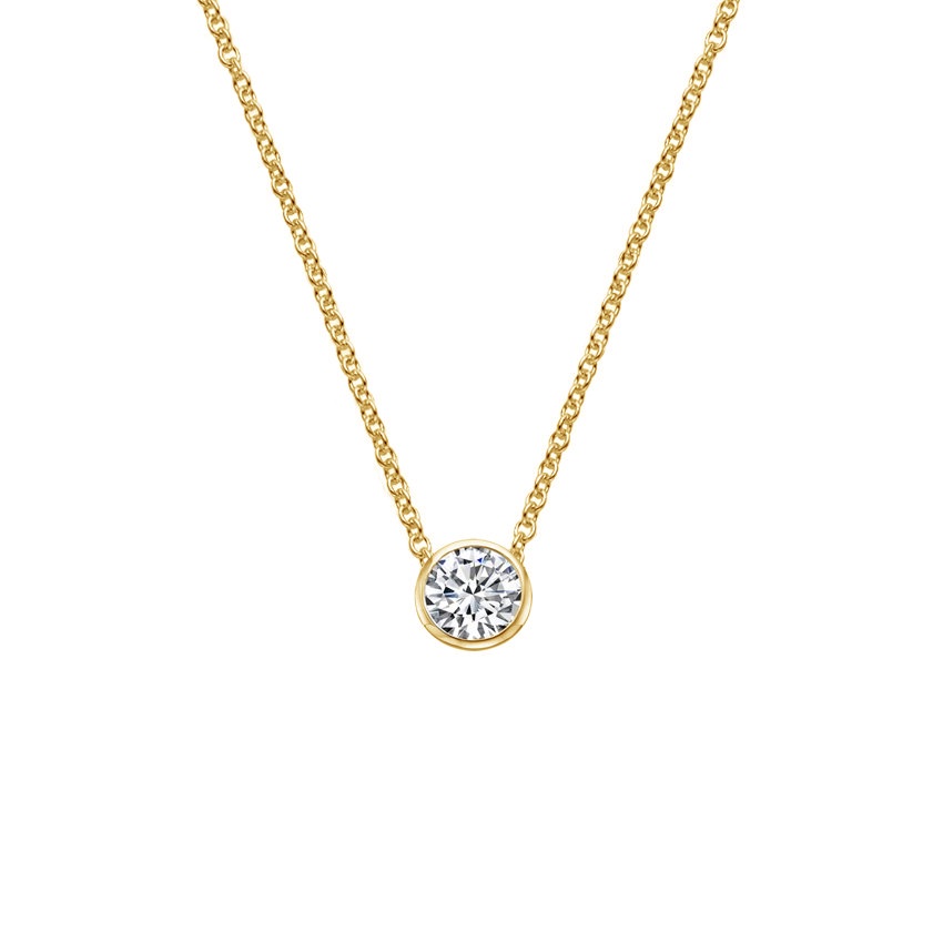 Top Twenty Anniversary Gifts - CREATE YOUR OWN BEZEL DIAMOND PENDANT