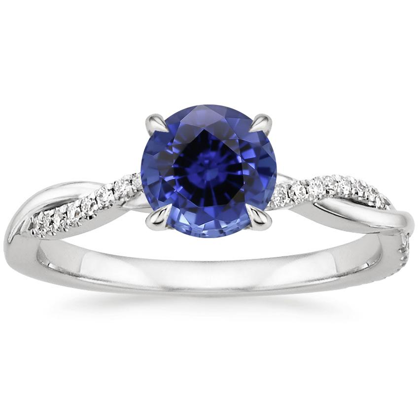 Top Twenty Sapphire Rings - SAPPHIRE PETITE TWISTED VINE DIAMOND RING