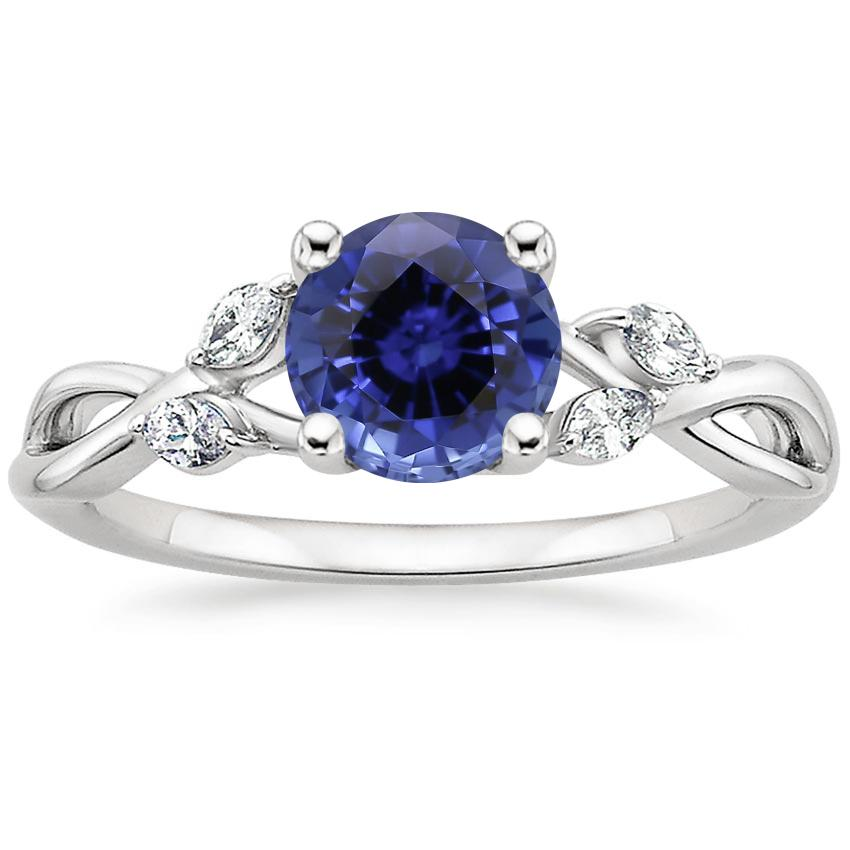 Top Twenty Sapphire Rings - SAPPHIRE WILLOW DIAMOND RING (1/8 CT. TW.)