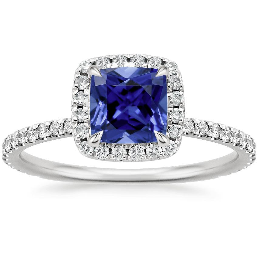 Top Twenty Sapphire Rings - SAPPHIRE WAVERLY DIAMOND RING (1/2 CT. TW.)