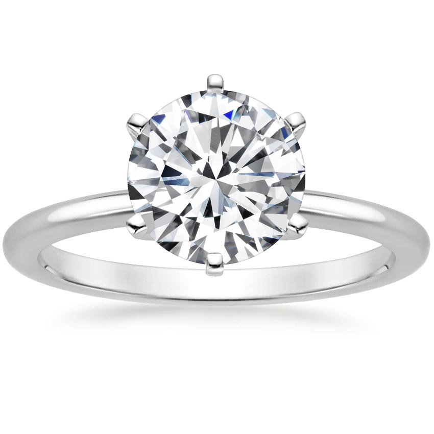 Top Twenty Engagement Rings - SIX-PRONG PETITE COMFORT FIT RING