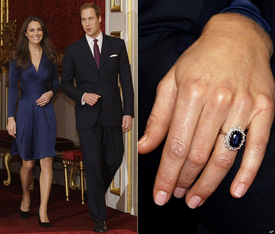 Kate Middleton Halo Sapphire Engagement Ring
