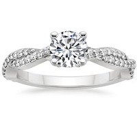 Top Engagement Rings - Twisted Vine Diamond Ring (1/4 ct.tw.)