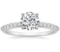 Top Engagement Rings - Petite Shared Prong Diamond Ring (1/4 ct.tw.)
