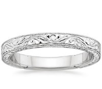 Top Women's Wedding Rings – Hand-Engraved Laurel Ring