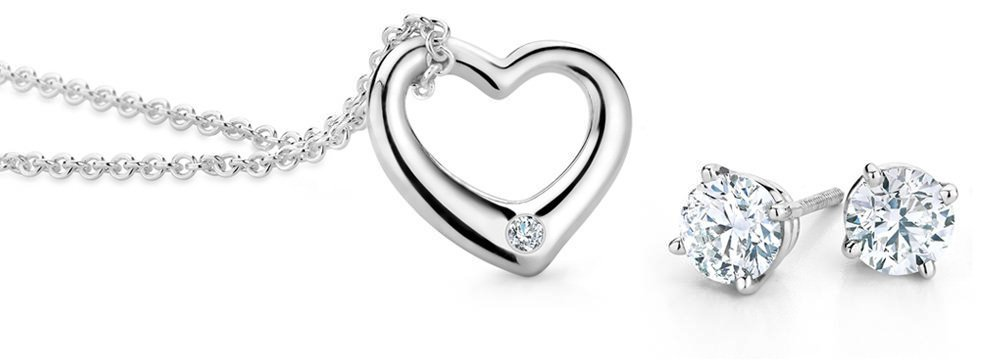 Brilliant Earth Diamond Earrings and Necklace