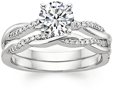 classic solitaire engagement rings have more versatility and can be paired with different styles for the wedding ring - The Wedding Ring