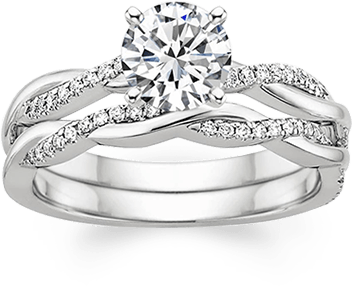 e6d64b1a8 If you want your wedding and engagement rings to fit nicely together but do  not feel that they must match perfectly, consider a wedding ring that ...