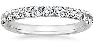 french pav diamond rings - Wedding Ring Women
