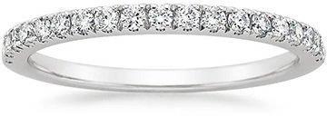 scalloped pav diamond rings - Women Wedding Ring