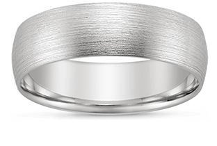 wear a consistent band style with different widths to suit each partners unique style - Gay Wedding Rings