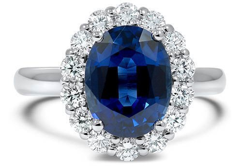 solitaire sterling round sapphire created yellow ct ring blue elegant gold engagement carat cut plated silver p in one