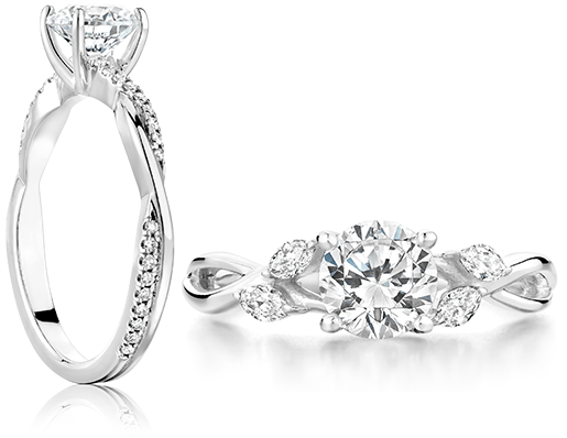 Natured inspired engagement rings