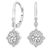 Cadenza Halo Diamond Earrings