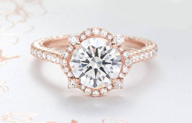 """4bb422f8eb Our iconic bridal gown detailing is woven into each style to create rings  that are at once modern and timeless.""""– Lela Rose"""