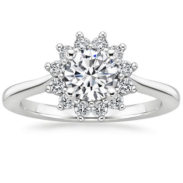 Sunburst Engagement Ring