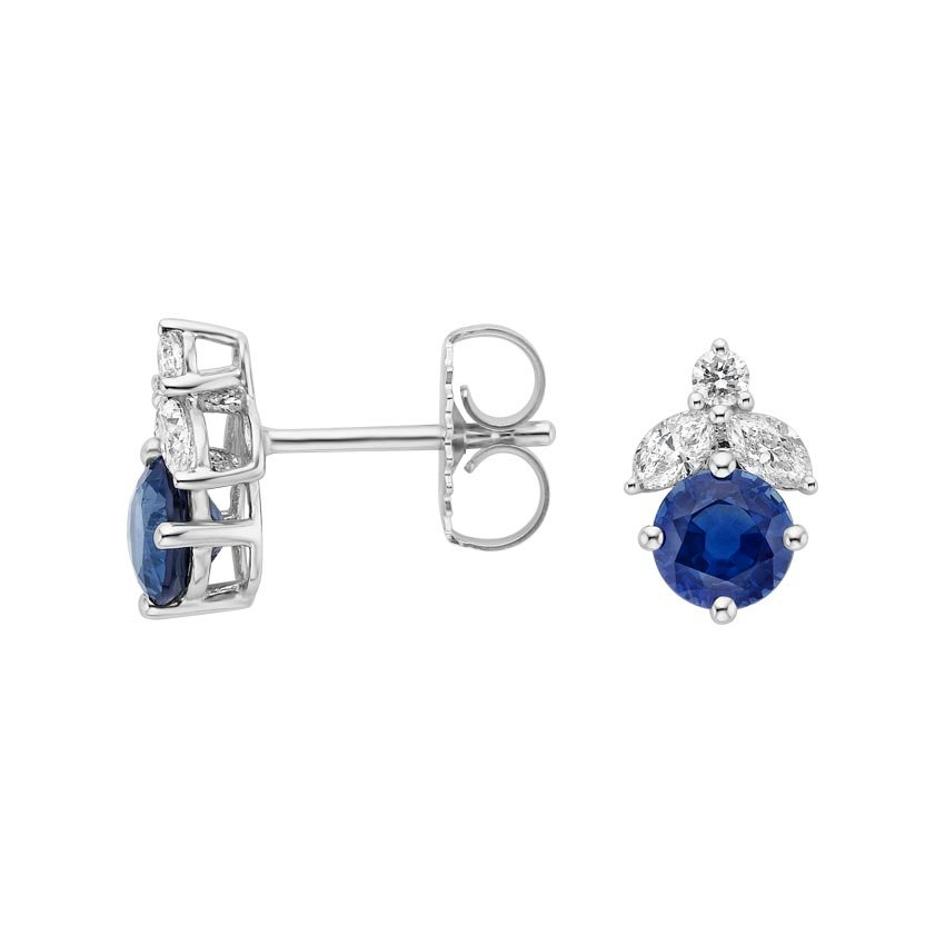 Arista Sapphire and Diamond Earrings